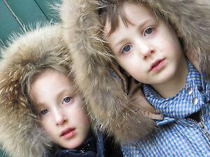 Girls Boys Kids Puffer Down Jacket Fur Hooded Winter Parka Long Coat Outerwear