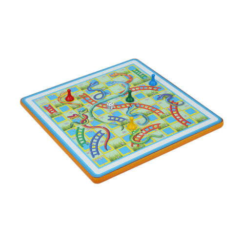 Snakes and Ladders Game Ladders foldable travel game magnetic board For Kid XMAS