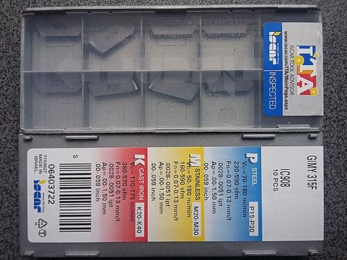 WENDEPLATTEN 10 x ISCAR GIMY 315F IC908 WENDESCHNEIDPLATTEN CARBIDE INSERTS