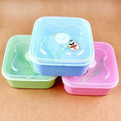 Cute Cartoon Bento Lunch Box Plastic  Lunch Meal Box Tableware Food Container