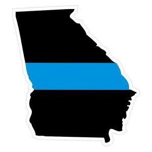 Georgia-GA-State-Thin-Blue-Line-Police-Sticker-Decal-176-Made-in-U-S-A