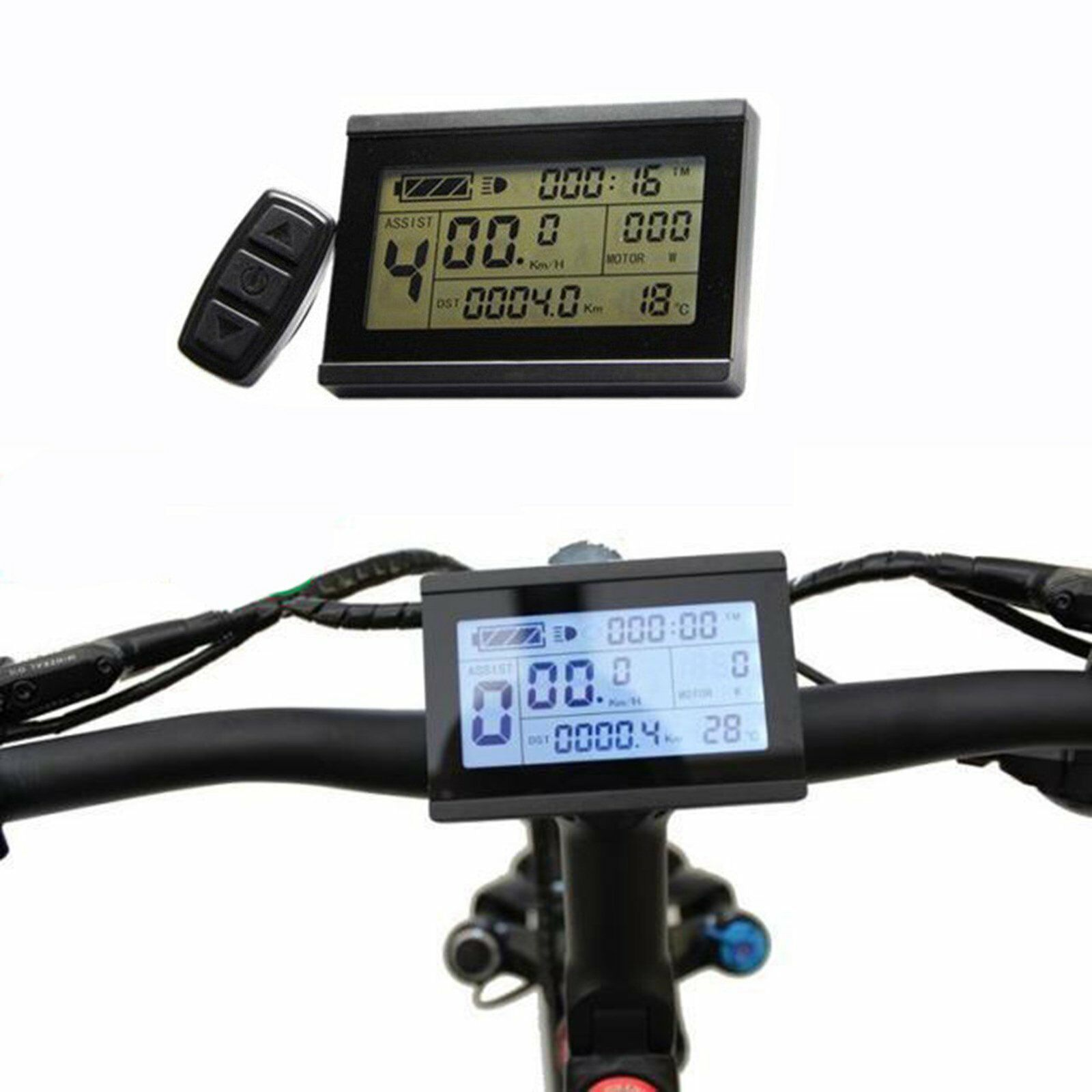 Risunmotor 24V 36V 48V LCD3 Display Control Meter Ebike Mountain Bike Universal