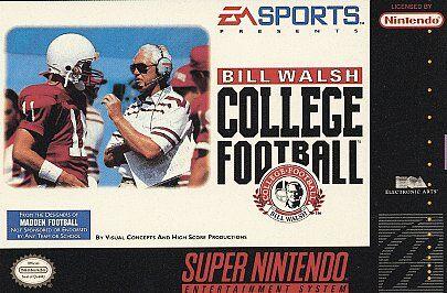 Super Nintendo Bill Walsh College Football, New Nintendo Super NES, Super Ninten - $39.00