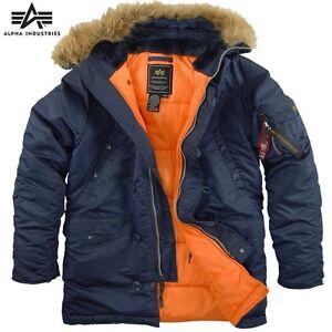 Alpha-Genuine-N-3B-Slim-Fit-Parka-Replica-Blue-Orange-Metal-zipper