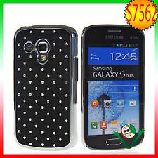 Custodia BRILLANTINI per Samsung Galaxy Trend Plus S7580 back cover LUCE NERA