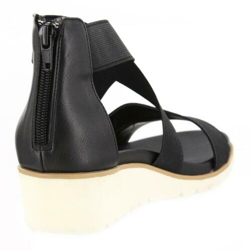 BLACK ASSORTED SIZE NEW MIA WOMEN/'S STRAPPY WEDGE SANDAL COLOR