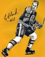 Eddie Shack Autographed 8x10 Boston Bruins Photo NHL