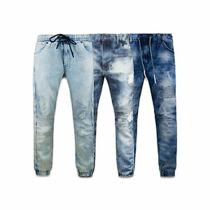 Acid Wash Denim BIKER PANTS JOGGERS biker jeans Fashion ...