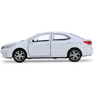 TOYOTA-Corolla-BIANCA-IN-METALLO-DIECAST-MODELLO-AUTO-GIOCATTOLO-DIE-CAST-CARS