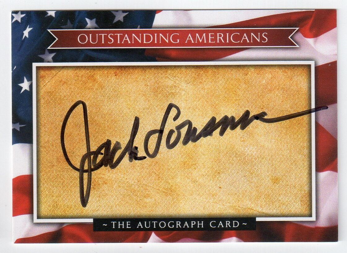 s l1600 - JACK LOUSMA Signed Outstanding Americans Autograph Card - NASA Astronaut