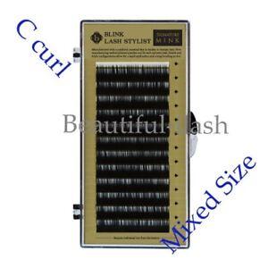 Eyelash Extension MINK Lash 8Size per tray C Curl Blink