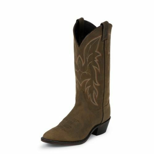 JUSTIN Men's 13IN Brown Driscoll Bay Apache Round Toe Western Boots 2263 NIB
