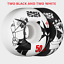 Powell Bones STF 83B 50MM Rat Vs Rat Skateboard Wheels Black /& White Set//4 NEW