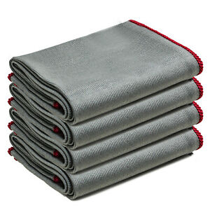 4-x-Microfibre-Cleaning-Cloths-Car-Bathroom-Lint-amp-Streak-Free-30x30cm-Towelogy