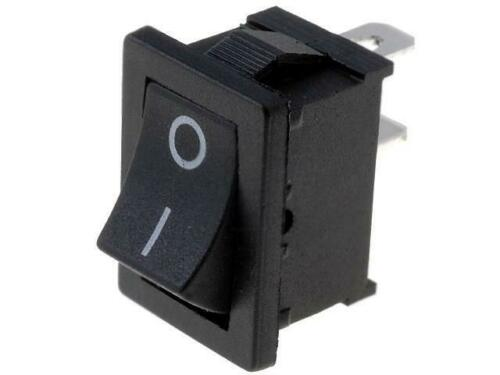 D-KWS10 ROCKER SPST Schaltstellungen 2 OFF-ON 6A//250VAC schwarz 35mΩ