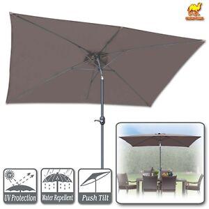 10x65 Patio Umbrella W Tilt And Crank 6 Ribs Outdoor Garden