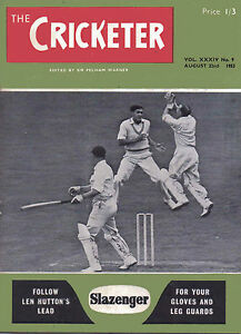 The Cricketer Magazine Vol XXXIV No 9 August 22nd 1953 - Broadstairs, Kent, United Kingdom - The Cricketer Magazine Vol XXXIV No 9 August 22nd 1953 - Broadstairs, Kent, United Kingdom