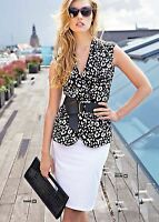 Cardigan Summer Belted Sleeveless Made In Europe Top Lux Cotton Stylish Vest S M