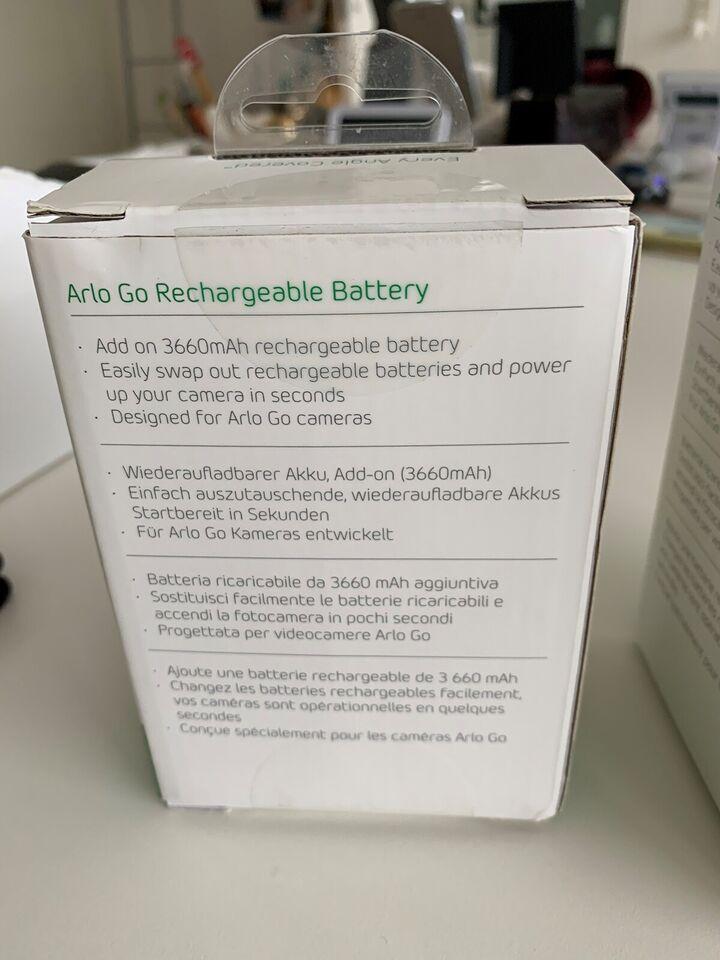 Overvågningskamera, Arlo batterier to go