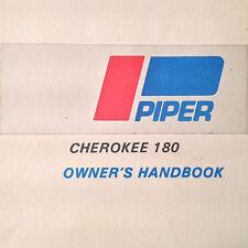 Piper Cherokee 180,  PA-28-180 Owners Handbook Manual