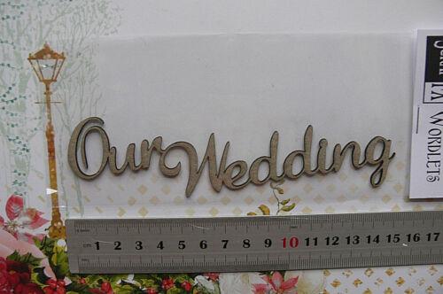 4 Style Choice Scrap FX L CHIPBOARD Die Cut WEDDING THEME PACKS /& LOVE