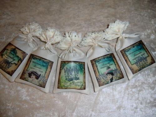 5 Lavendelsäckchen *L5* SCHRANKDUFT Deko Chabby Chic Mottenschutz Lavendel