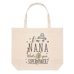 I-039-m-A-Nana-What-039-s-Your-Superpower-Large-Beach-Tote-Bag-Grandma-Funny-Shoulder