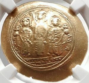 JESUS-CHRIST-Romanus-IV-Eudocia-amp-Sons-ANCIENT-Gold-Byzantine-Coin-NGC-XF-i66651