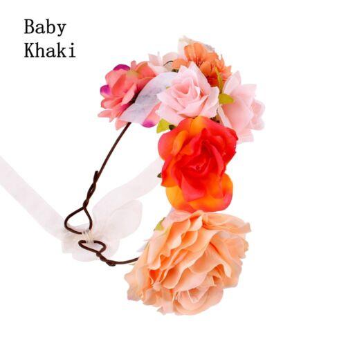 Mom Kids Rose Flower Hairband Parenting Crown Headband Floral Garland