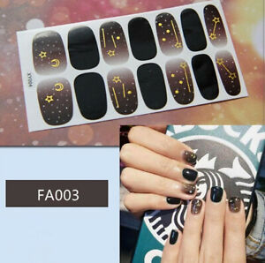 Full-Cover-Nail-Polish-Stickers-3D-art-Tips-Sky-Star-Decor-DIY-Decals-Wraps