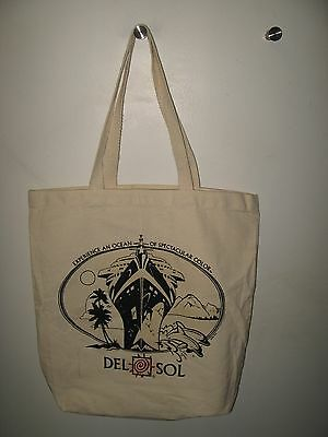 Del Sol Shopping Bag - Color Changing Cruise Ship Cotton Canvas Book Beach Bag