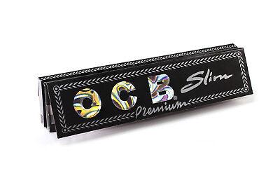24x Pack OCB Premium Black King Size Slim 32 Papers Per Pack Ultra Thin Full Box