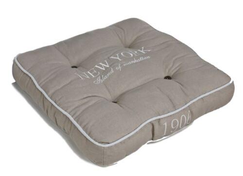 Coussin New York beige marron 45x45cm Coussin d/'assise remplissage Coussin Avec Remplissage
