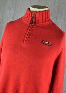 9e7314abd37 Details about Polo Sport Ralph Lauren 1/4 Zip Sweater's Women's XL Red  Cotton Vintage