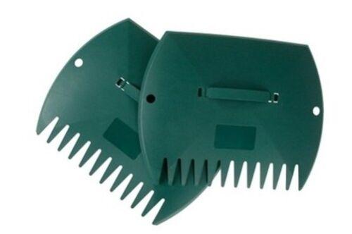 Laubsammler Handrechen Rechen Laubgreifer Laubschaufel 32x37cm grün