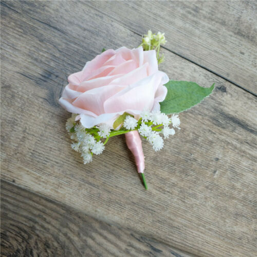 UK Rose Boutonniere Corsage Groom Best man *Prom *Party *Quinceanera Wedding