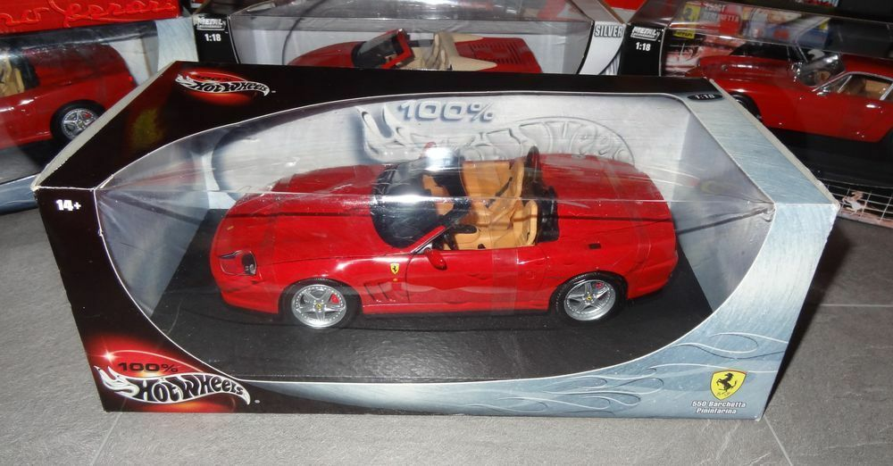 Hot Wheels Ferrari 550 Barchetta positions Rouge 1 18 en neuf dans sa boîte scellée