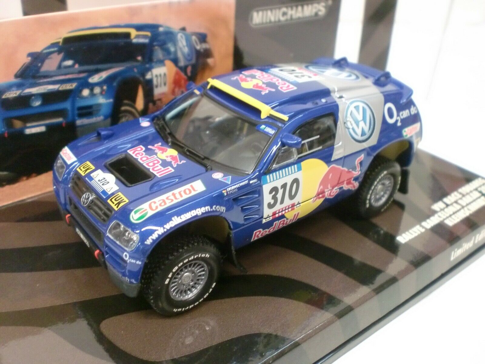 primera vez respuesta MINICHAMPS 1 43 - VW RACE TOUAREG RALLYE BARCELONA BARCELONA BARCELONA DAKAR 2005 - 436 055310  mejor oferta