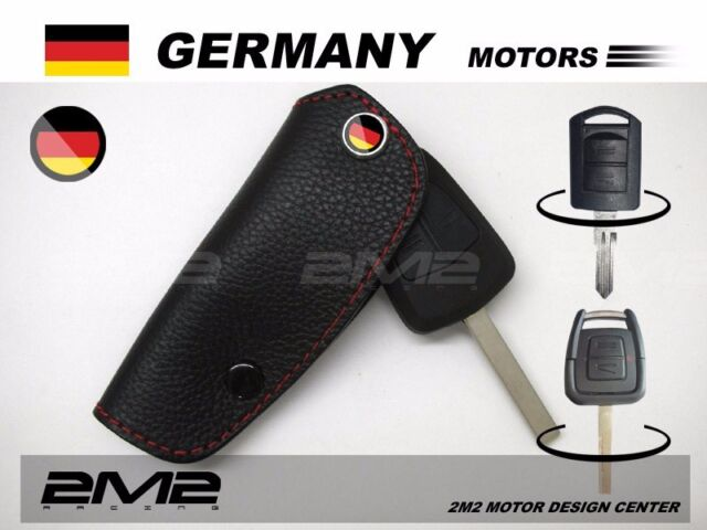 2511A Leather Key fob Holder Case Chain Cover FIT For OPEL CORSA C VECTRA ZAFIRA