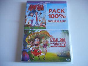 2-DVD-NEUF-PACK-100-GOURMAND-L-039-ILE-DES-MIAM-NIMAUX-TEMPETE-DE-BOULETTES
