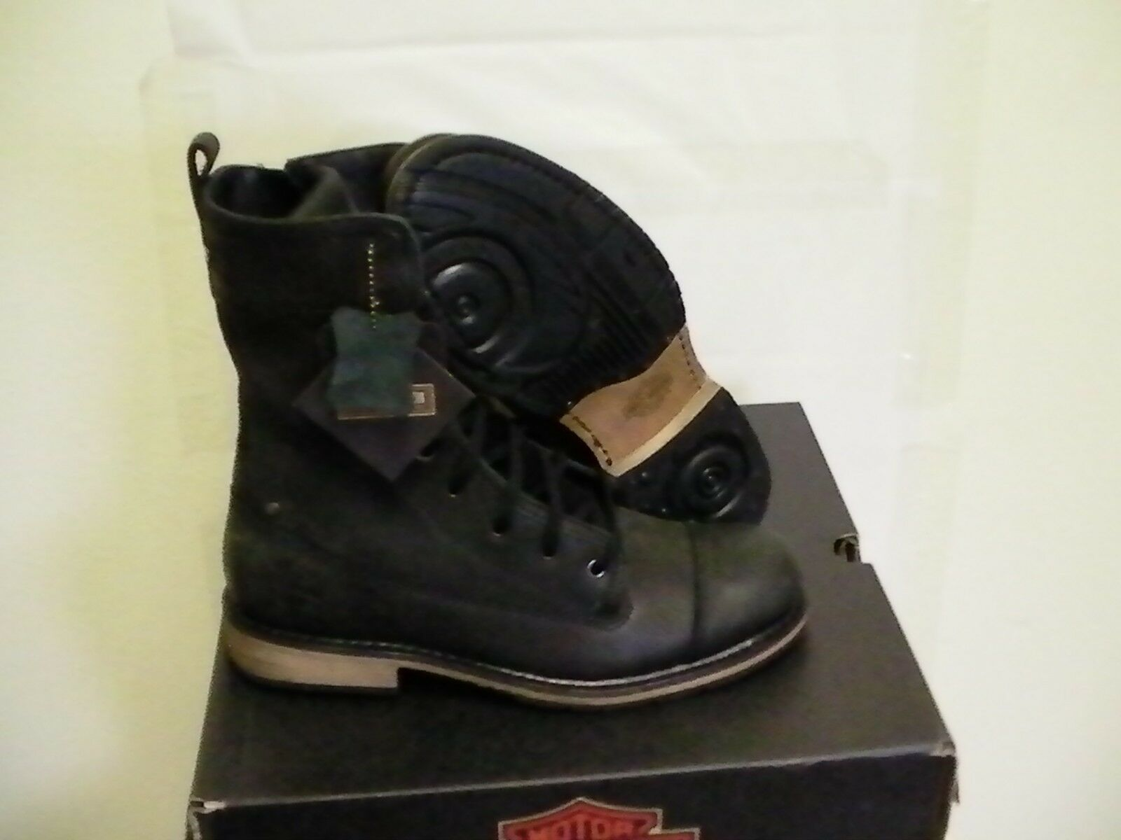 Harley davidson mens riding boots kelton size 8.5 us new with box