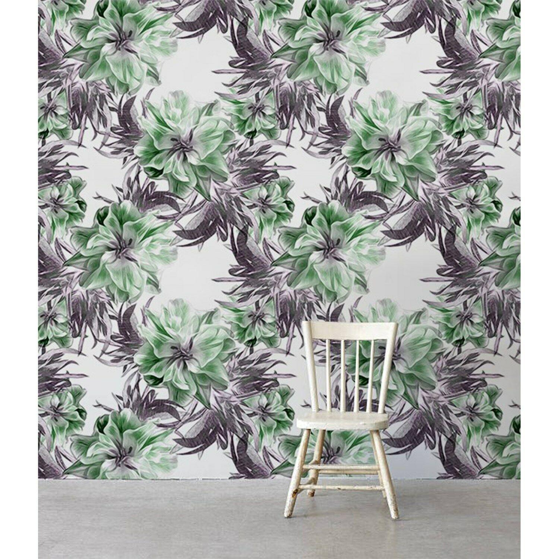 Removable wallpaper Negative floral Magic Flowers decor self adhesive art