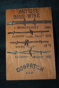 Vintage-Al-Capp-039-s-Lil-039-Abner-034-DOGPATCH-USA-034-Barb-Wire-Board-Display-RARE