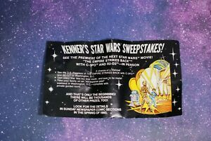 ORIGINAL INSERT ~ Vintage Star Wars Empire Strikes Back Sweepstakes Kenner