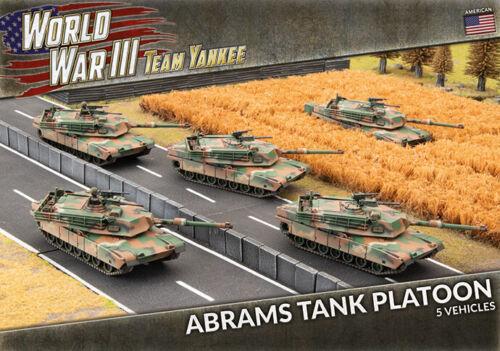 Battlefront Team Yankee World War III American Abrams Tank Platoon TUBX18