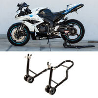 Rear Motorcycle Stand Sports Bike Stand Black Swingarm Lift Auto Bike Shop on sale