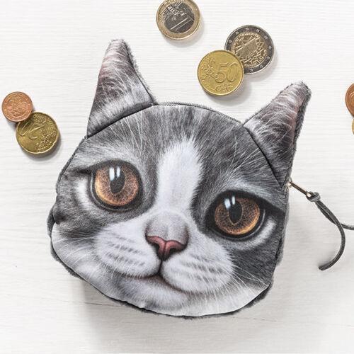 Porte-monnaie Chats-porte-monnaie portefeuille avec effet 3d Gadget! super cadeau