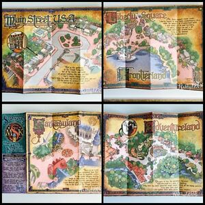 Details about Walt Disney WDW Sorcerer\'s Of The Magic Kingdom Map Disney  Ephemera