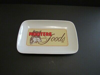 Hooters Foods Restaurant Ceramic Hot Wings Plate Dish Serving Platter Man Cave
