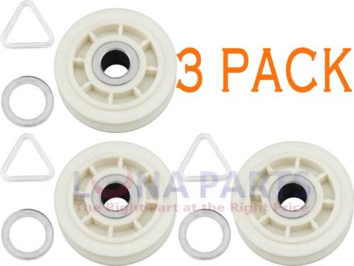 3 Pk, Dryer Idler Pulley Replaces Whirlpool, Sears, AP3094197, PS334244, 279640